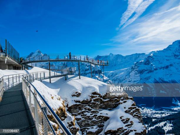 Switzerland, Canton of Bern, Grindelwald, view from First Cliff Walk on Eiger