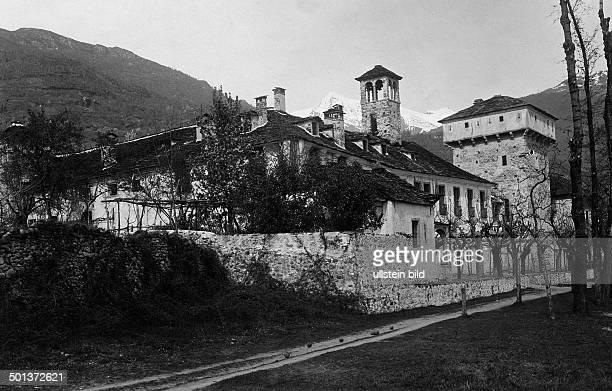fortress Castello di Ferro near Locarno probably in the 1910s