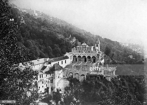 monastery Madonna del Sasso in Orselina on Lake Maggiore probably in the 1910s