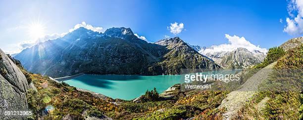 Switzerland, Canton of Uri, Goeschenen, Goescheneralpsee, Glascier Dammastock