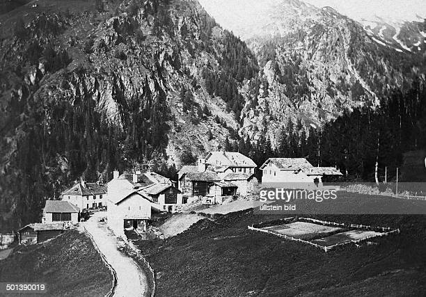 coaching inn of Berisal on the Simplon Pass road probably in the 1910s