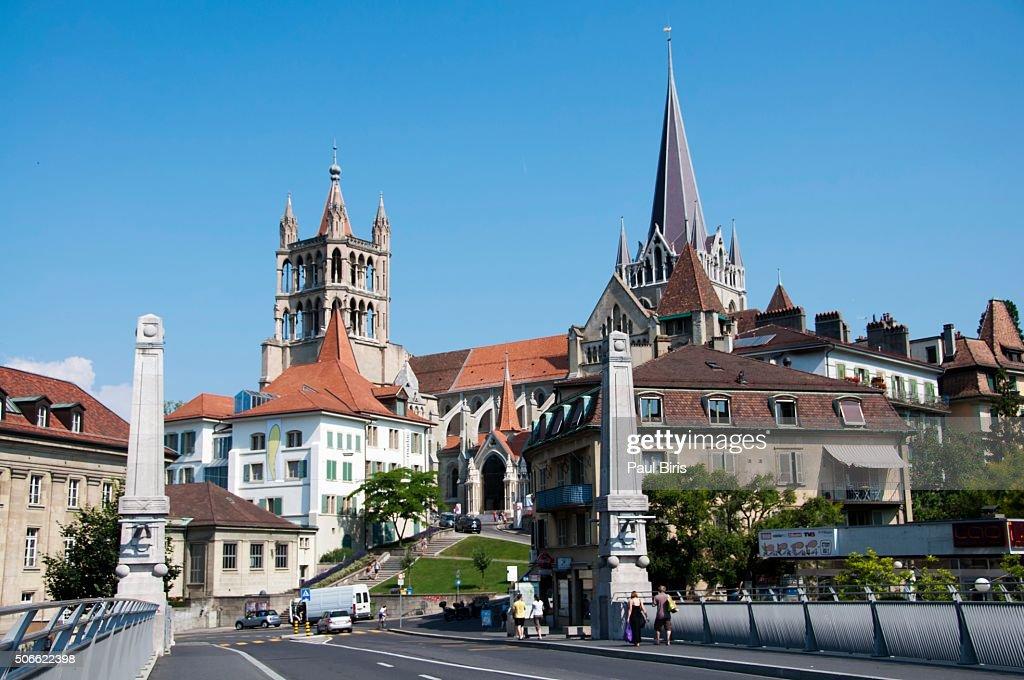 Switzerland Canton Of Vaud Lausanne City Center Stock Photo Getty