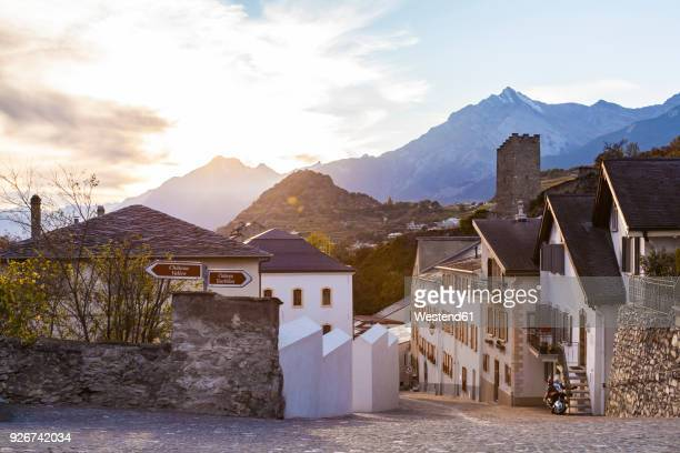 switzerland, canton vaud, sion, townscape, old town - vaud canton stock photos and pictures