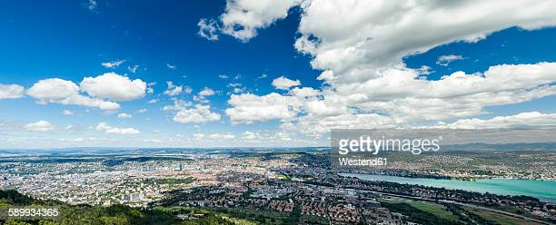 Switzerland, Canton Zurich, Panoramic view over Zurich