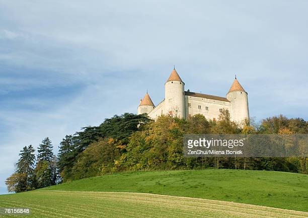 Switzerland, castle, low angle view