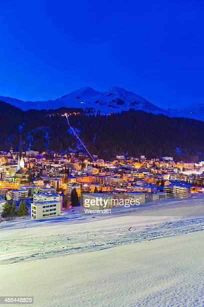 Switzerland, Davos, view of city