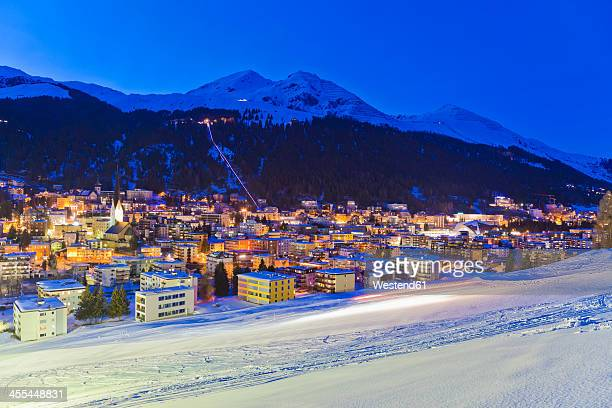 Switzerland, Davos, view of city