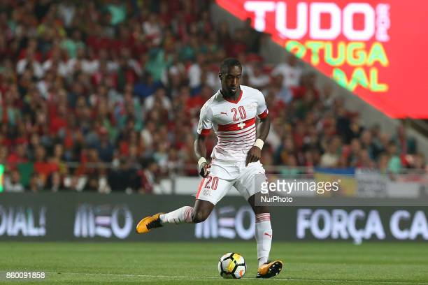 Switzerland defender Johan Djourou during the match between Portugal v Switzerland FIFA 2018 World Cup Qualifier match at Luz Stadium on October 10...