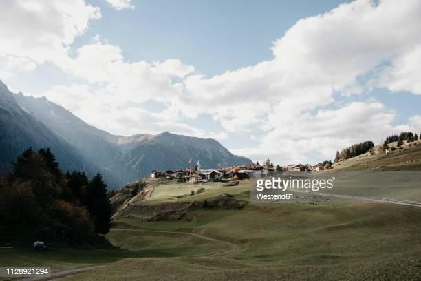 switzerland, engadine, mountain village - 山村 ストックフォトと画像