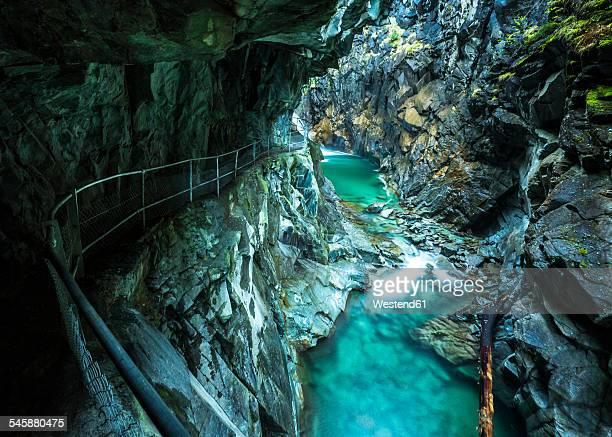 Switzerland, Graubuenden, Rofla Gorge
