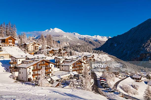Switzerland, Graubuenden, Savognin, chalets, holiday homes and hotels
