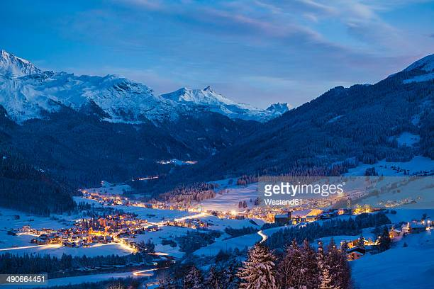 Switzerland, Graubuenden, View to Savognin