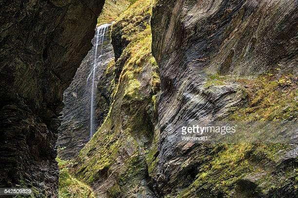 Switzerland, Grisons, Hinterrhein, Viamala Gorge, Waterfall