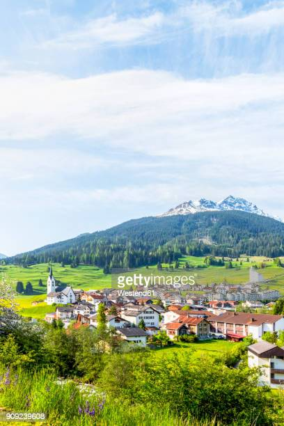 Switzerland, Grisons, Surses, Swiss Alps, Parc Ela, Mountain village Savognin