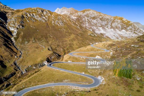 Switzerland, Grisons, Swiss Alps, Parc Ela, Julier pass, aerial view
