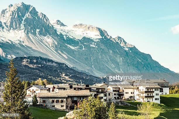 Switzerland, Grisons, Swiss Alps, Parc Ela, mountain village