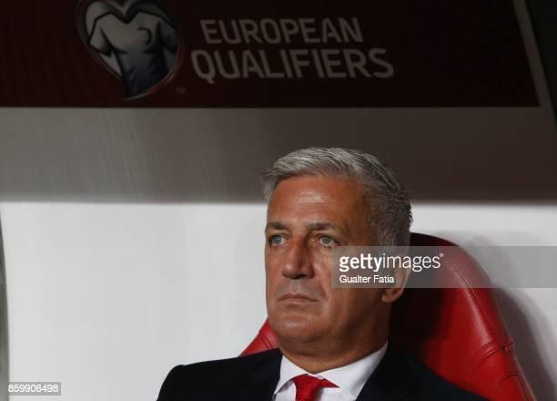 Switzerland head coach Vladimir Petkovic before the start of the FIFA 2018 World Cup Qualifier match between Portugal and Switzerland at Estadio da...