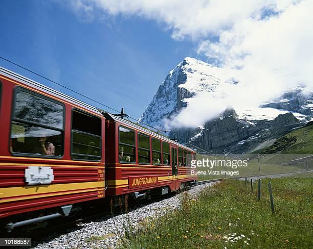 Switzerland, Kleine Scheidegg, train to Jungfraujoch