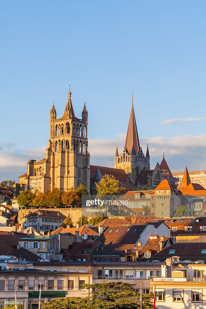 Switzerland, Lausanne, cathedral Notre-Dame : Stock Photo