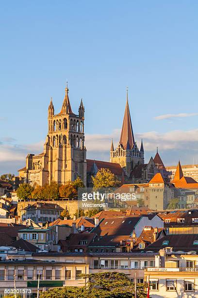 switzerland, lausanne, cathedral notre-dame - lausanne stock pictures, royalty-free photos & images