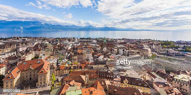 switzerland, lausanne, cityscape - lausanne stock pictures, royalty-free photos & images
