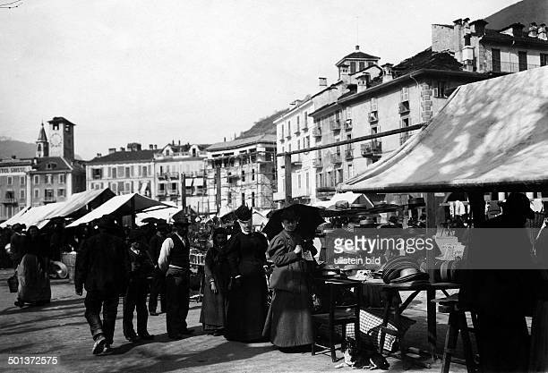 local residents shopping at the market undated probably around 1910