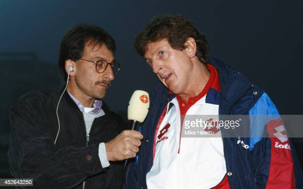 Switzerland manager Roy Hodgson is interviewed circa 1993