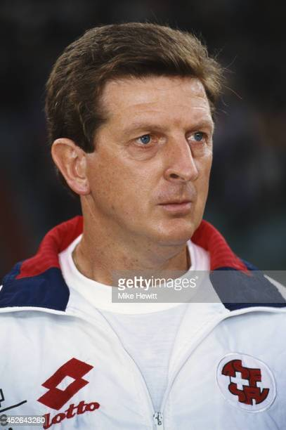 Switzerland manager Roy Hodgson looks on circa 1995.