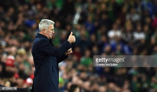 Switzerland manager Vladimir Petkovic during the FIFA 2018 World Cup Qualifier PlayOff first leg between Northern Ireland and Switzerland at Windsor...