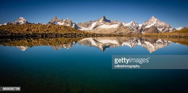 Reflet de lac montagne suisse