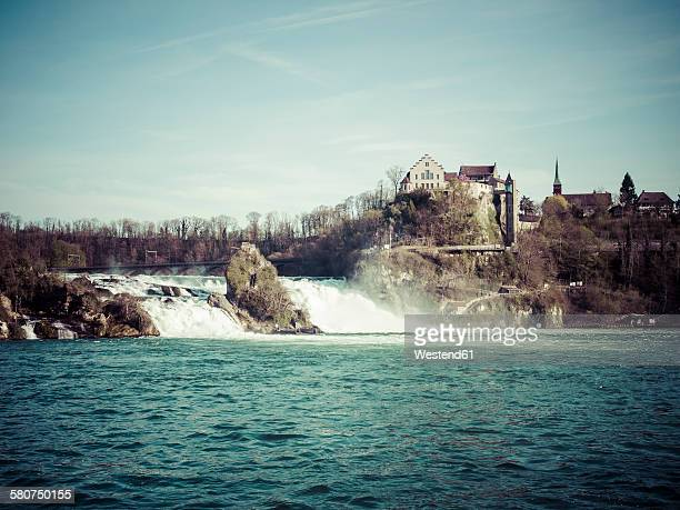 Switzerland, Schaffhausen, Rhine falls with Laufen Castle
