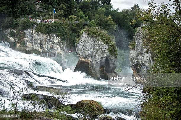 Switzerland, Schaffhausen, View of Rhein Falls