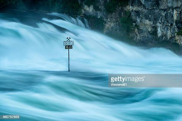 Switzerland, Schaffhausen, View of Rhine Falls