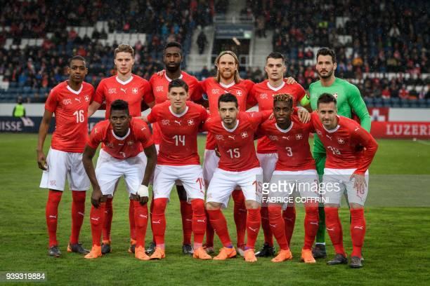 midfielder Gelson Fernandes defender Nico Elvedi defender Johan Djourou defender Michael Lang midfielder Granit Xhaka and goalkeeper Roman Bürki...