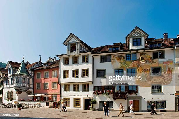 Switzerland St Gallen Traditional House In Centre Town