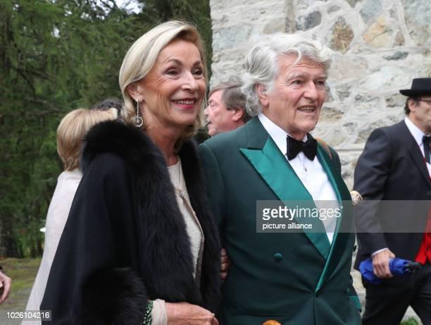 Brigitte and Wendelin von Boch arrive to the wedding of Konstantin von Bayern and Deniz Kaya Photo Franziska Kraufmann/dpa