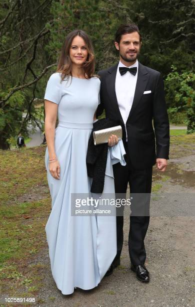 Carl Philip Prince of Sweden and his wife Sofia come to the wedding of Constantine of Bavaria and Deniz Kaya Photo Franziska Kraufmann/dpa