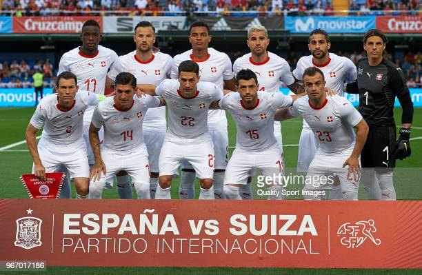 Switzerland team line up prior the International Friendly match between Spain and Switzerland at Estadio de la Ceramica on June 3 2018 in Villareal...