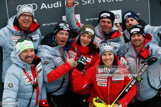 Switzerland Team Wendy Holdener of Switzerland takes 3rd place during the Audi FIS Alpine Ski World Cup Women's Slalom on December 29 2018 in...