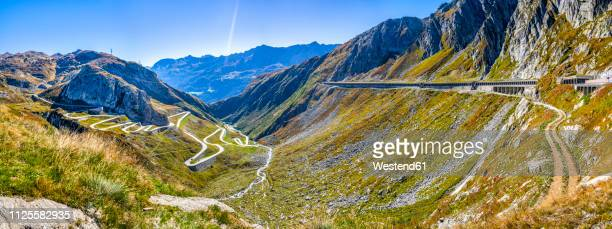 switzerland, ticino, aerial view of gotthard pass - ticino canton stock pictures, royalty-free photos & images