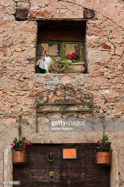 Switzerland, Ticino, Lake Lugano, Carona, Window detail
