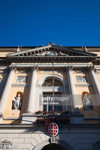 Switzerland, Ticino, Lake Lugano, Lugano, Piazza della Riforma, Municipio building, Town hall