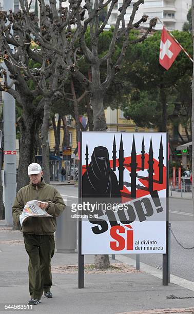 Switzerland Ticino Lugano referendum against the building of minarets the majoritz of the Swiss population voted for a ban of building new minarets