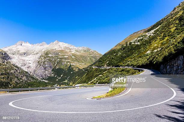 switzerland, valais, rhone glacier and furka pass - mountain pass stock pictures, royalty-free photos & images