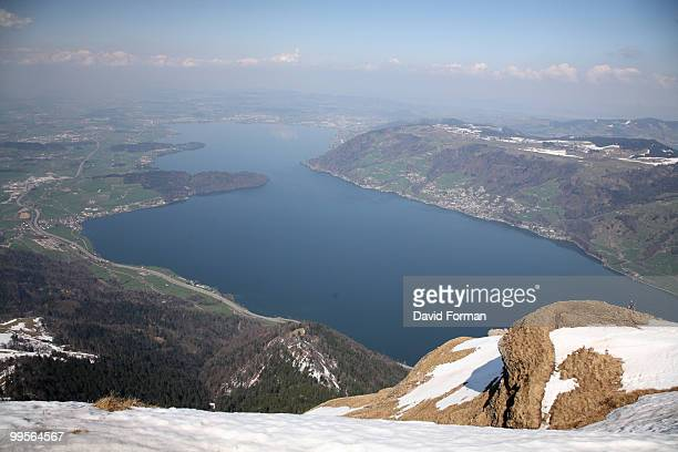 Switzerland.  View from Top of Mt Rigi to