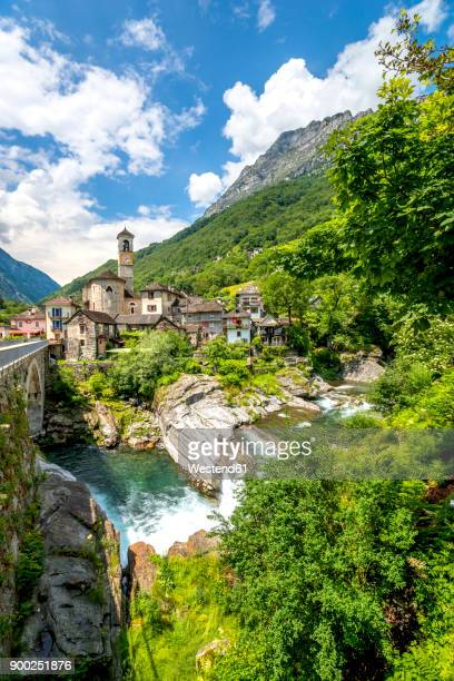 Switzerland, view of Lavertezzo village