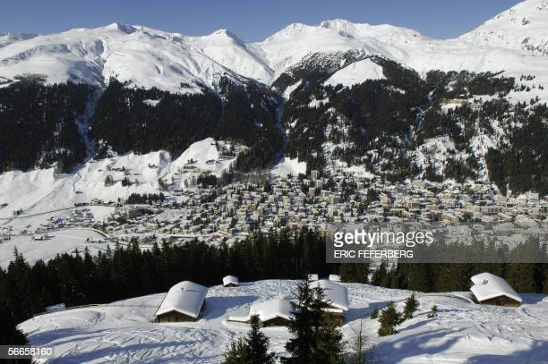 View of the village of Davos 24 January 2006 a day before the start of the World Economic Forum in Davos After drawing political heavyweights and...