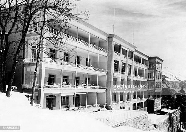 Switzerland Waadt Vaud Dr Rollier's Clinic and Tuberculosis sanatorium in Leysin Photographer Sennecke 1930Vintage property of ullstein bild