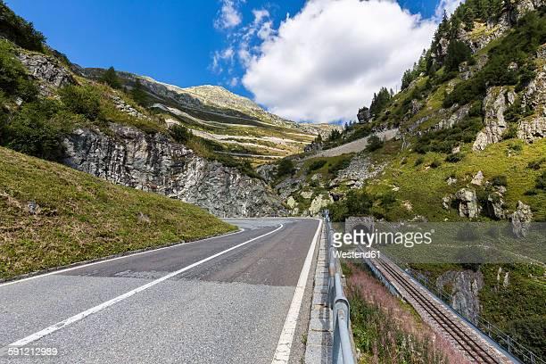 Switzerland, Wallis, view to Furka and Grimsel Pass