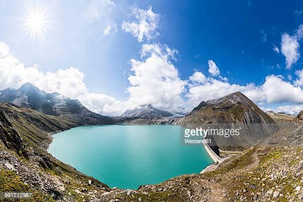 Switzerland, Wallis, view to storage lake Griessee
